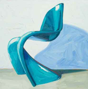 Aqua Panton Chair Right View