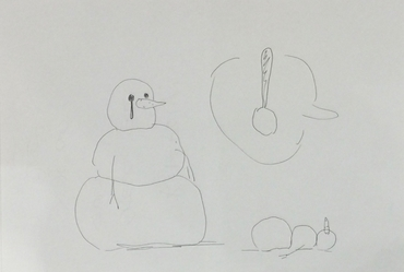 Untitled Snowman Drawing