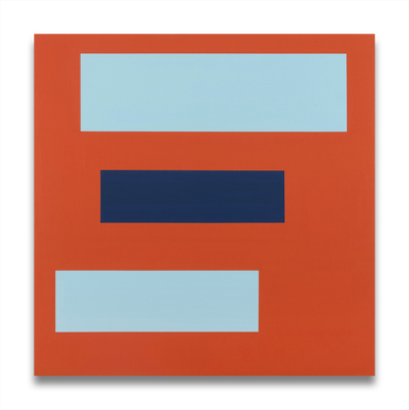 Decal 20 (horizontal blue bars on orange)
