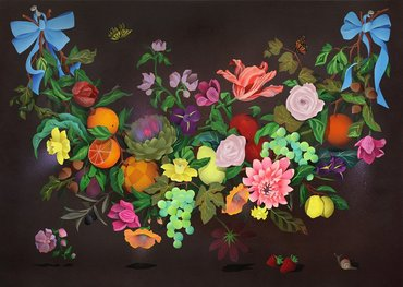 A Swag of Fruits and Flowers 1
