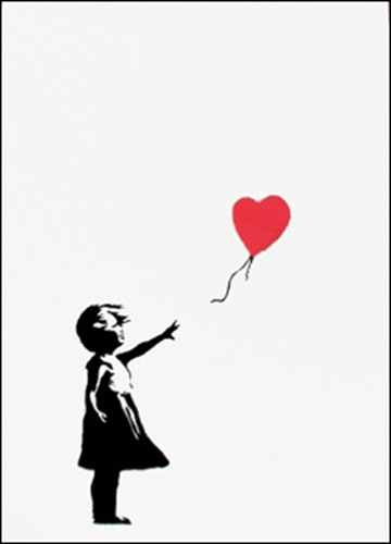 Girl with Balloon (red)