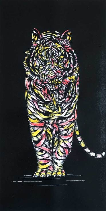 Tiger Threat Yellow Red