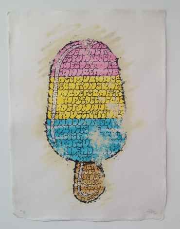 Ice Cream (pink yellow blue)