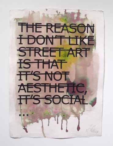 The Reason Why I Don't Like Street Art