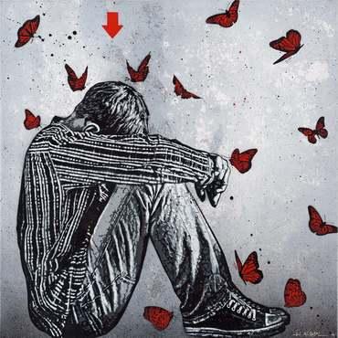 Teenager & butterflies
