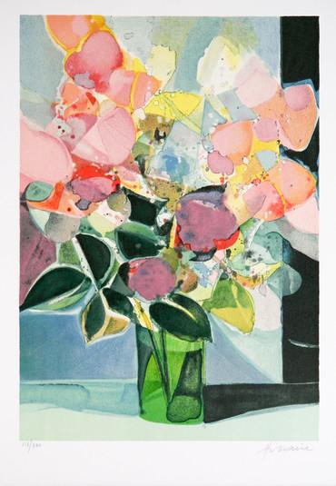 Bouquet vase vert
