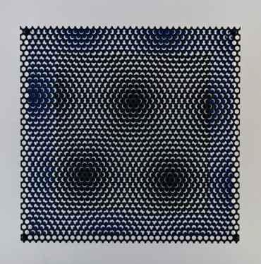 Vibration carré noir et bleu