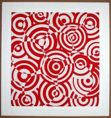 interferences cercles rouge et blanc
