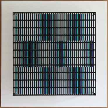 vibration bandes noir, bleu et turquoise