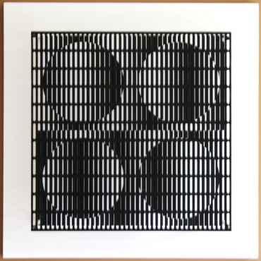 vibration 4 cercles noir et blanc