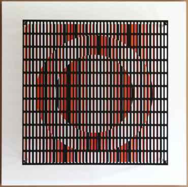 vibration cercles noir, orange et rouge