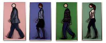 Walking series - set of 4