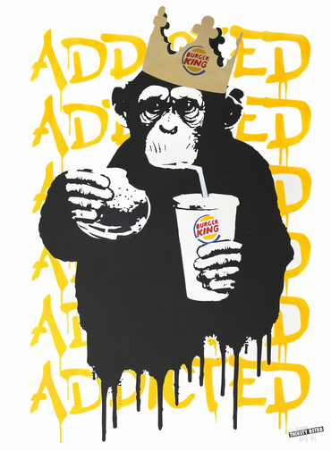 Fast Food Monkey – Burger King Orange Yellow