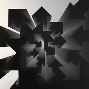 Fibonacci Nautilus – Inverse Black & White