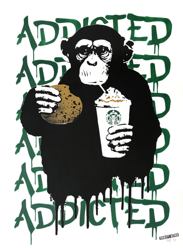 Fast Food Monkey – Starbucks Green