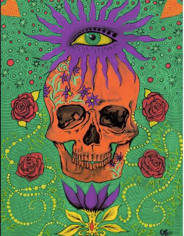 Skull Print (Orange)