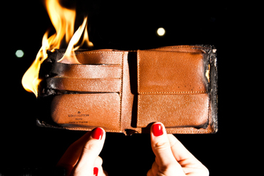 Louis Vuitton Wallet on Fire