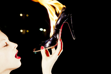 Christian Louboutin on Fire