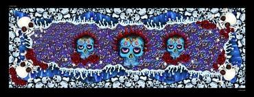 Skulls (Blue)