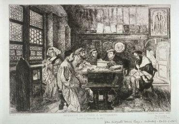 La Lecture Chez Luther, 1867