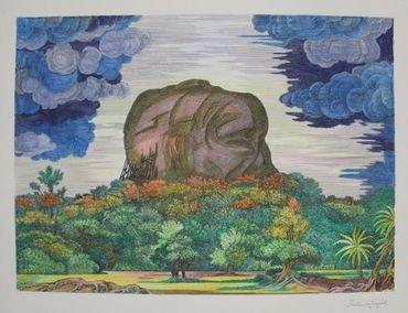 Der Fels Von Sigiriya Bei Tag / The Rock Of Sigiriya At Daytime