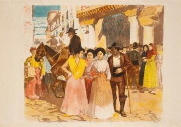 Une Rue À Burgos, 1897