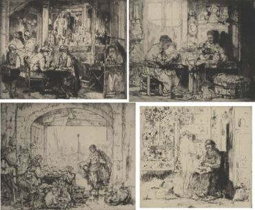 (Assorted Occupations: A Collection Of Ten Original Etchings)