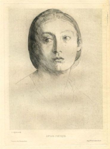 Tête De Jeune Fille / Extase Poétique, 1875