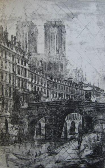 Le Petit Pont, Paris, 1850