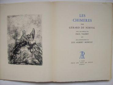 Les Chimères, Par Gérard De Nerval. Avec Une Préface De Paul Valéry & Des Lithographies De Luc-Albert Moreau