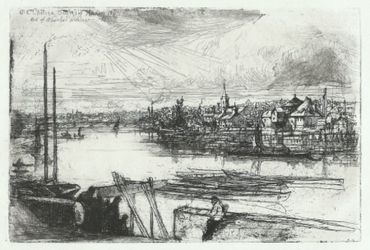 Battersea Reach, 1863