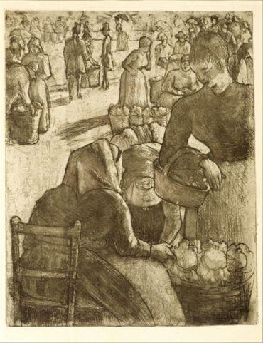 Marché Aux Légumes, À Pontoise, 1891