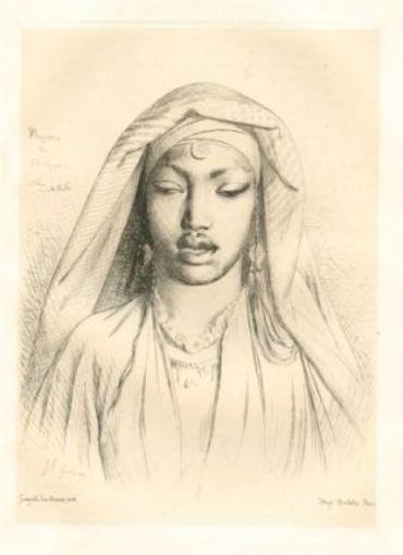Tête De Negresse Du Hedjaz, 1860