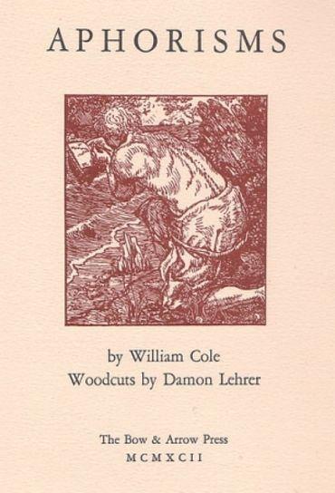 Aphorisms (Book With Nine Original Woodcuts)