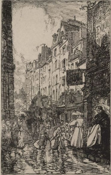 Rue Boutebrie, Le Quartier St. Séverin