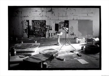 Basquiat's studio on Crosby Street, New York, 1983