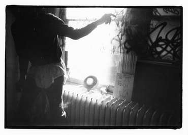 Basquiat at the windows, New York, 1983