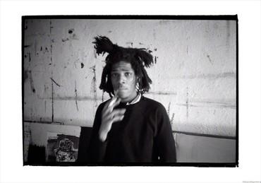 Basquiat smoking, New York, 1983