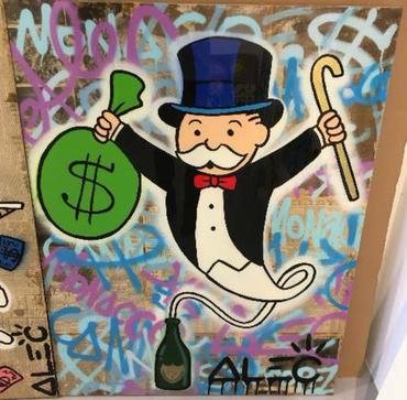 Monops Wine Genie Graffiti Background