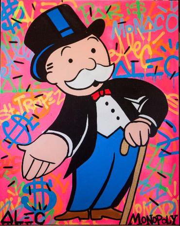 Monops Pink Graffiti Background