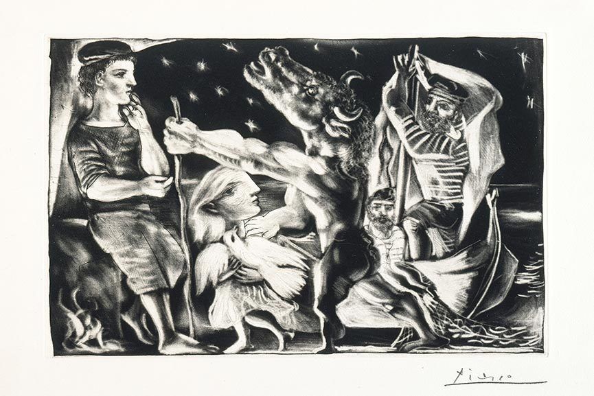 Prodigious Output of Prints by Picasso On View at LACMA