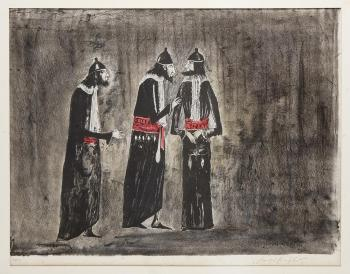 Leonora Carrington-The Judges, de la serie The Dybbuk-1974