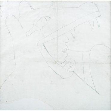 Diego Rivera-Caballero coyote, para el mural Epopeya del pueblo mexicano-1929
