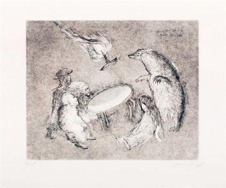 Leonora Carrington-Badger causa que la mesa vuele-