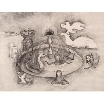 Leonora Carrington-Sesion espiritista-1979