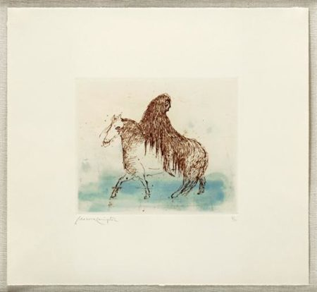 Leonora Carrington-Personaje en caballo-