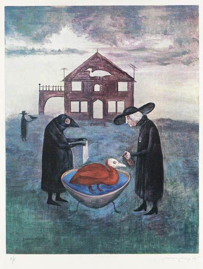 Leonora Carrington-Bird Bath-1978
