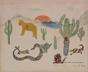 Niki de Saint Phalle-Chef white clouds to the rescue-