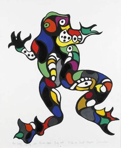 Niki de Saint Phalle-The Frog (Study for Noah's Ark)-1995