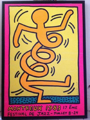 Keith Haring-Keith Haring - Montreux 17eme festival de jazz-1983